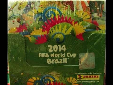 BOX BREAK!!! Panini Adrenalyn XL World Cup 2014 Trading Cards