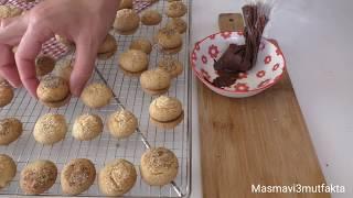 Lokmalık Çikolata dolgulu Fındıklı Kurabiye Tarifi -Nefis bir Kombinasyon  ▪Masmavi3mutfakta▪