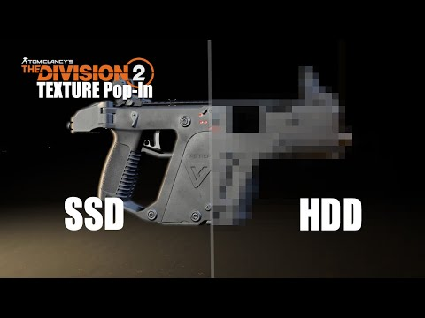 PS4 The Division 2 Texture Pop-In SSD Vs HDD Comparison