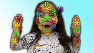 Toys gets stuck on hafsa's face (funny videos)