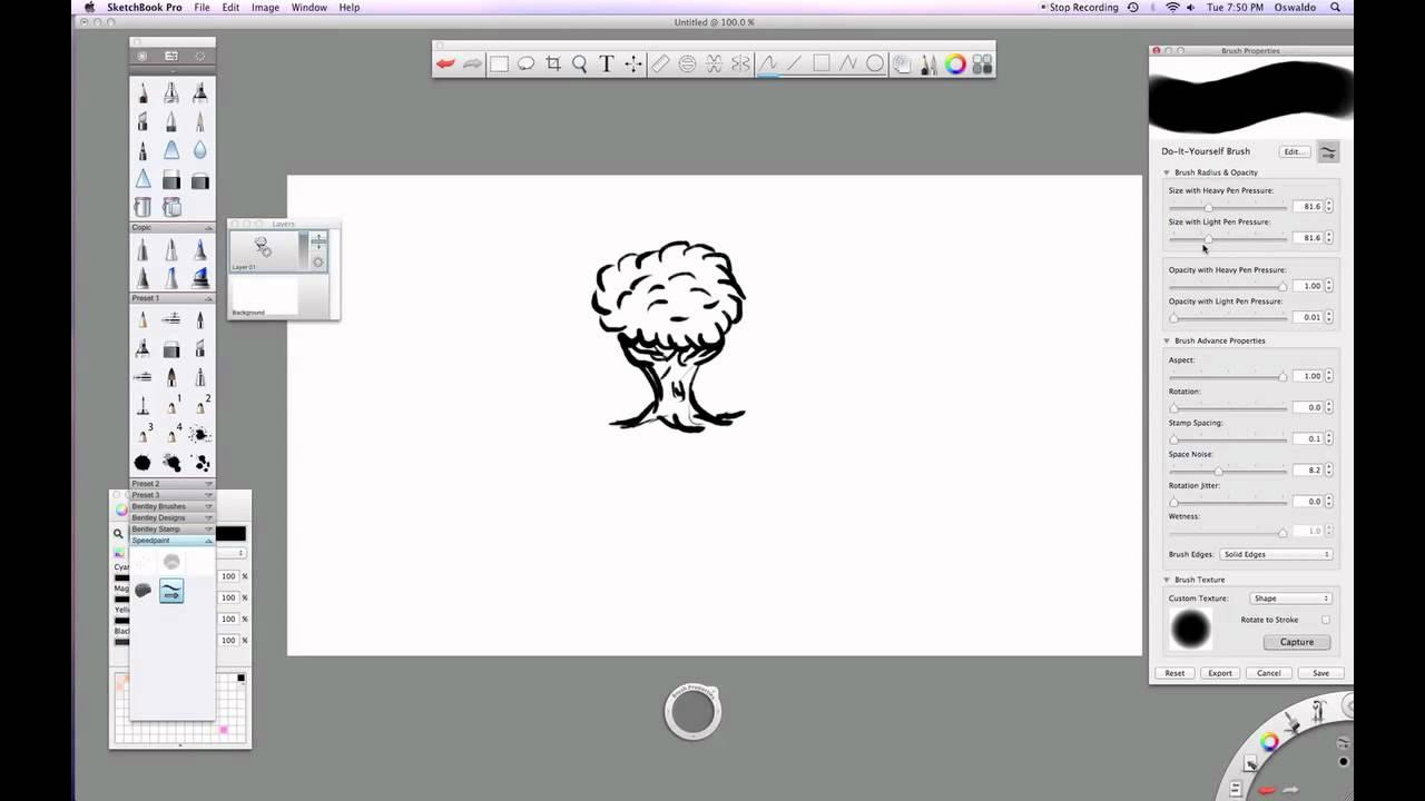 Creating a custom brush in Sketchbook Pro pt 1 - Stamp Brushes