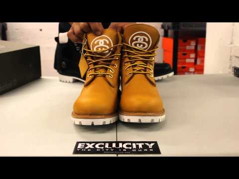Timberland X Stüssy 6 inch Boots - Wheat - Unboxing Video at Exclucity