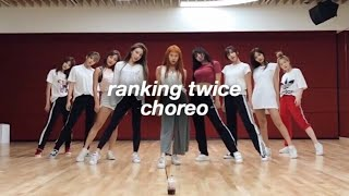 ranking twice choreographies
