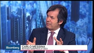 Intesa's CEO Says the Market Is 'Absolutely Crazy'