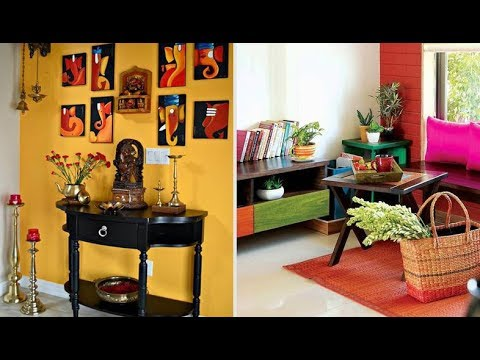 Small Living Room Decoration In India Makeover With Wood Accent Wall Low Budget Indian Style Interior Decor Design Ideas Youtube