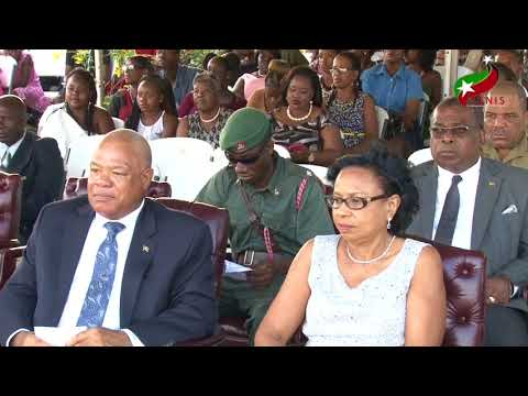 The Hon. Timothy Harris at The St. Kitts-Nevis Defence Force Passing Out Parade