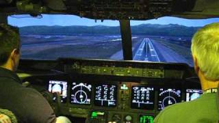 MD-11 Cockpit Approach and Landing- Anchorage