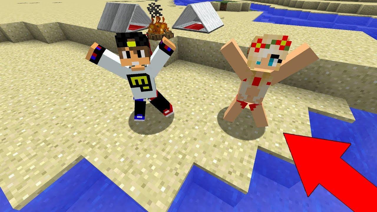 Ребенок и Девушка Выживание на Острове в Майнкрафт! Мультик для Детей Троллинг Дети Моды Minecraft