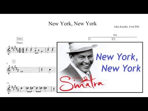 New York, New York - Frank Sinatra (Sheet Music SAX ALTO)