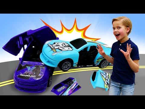 Классное видео про новые игры - Гонки в машинки Crash Fest! - Крутые игровые наборы для мальчиков.