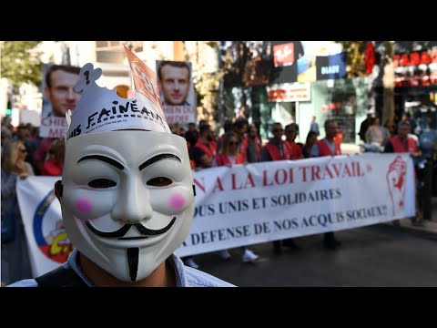 France: Unions stage fresh protests over labour law reform