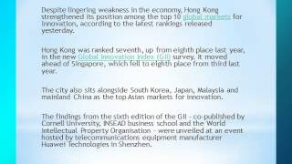 Hong Kong takes innovation lead in Asia, report says