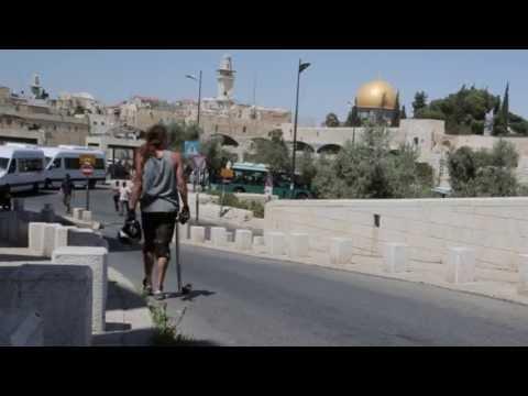 Longboarding in old Jerusalem city