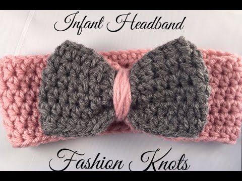Crochet Infant Headband Tutorial Youtube