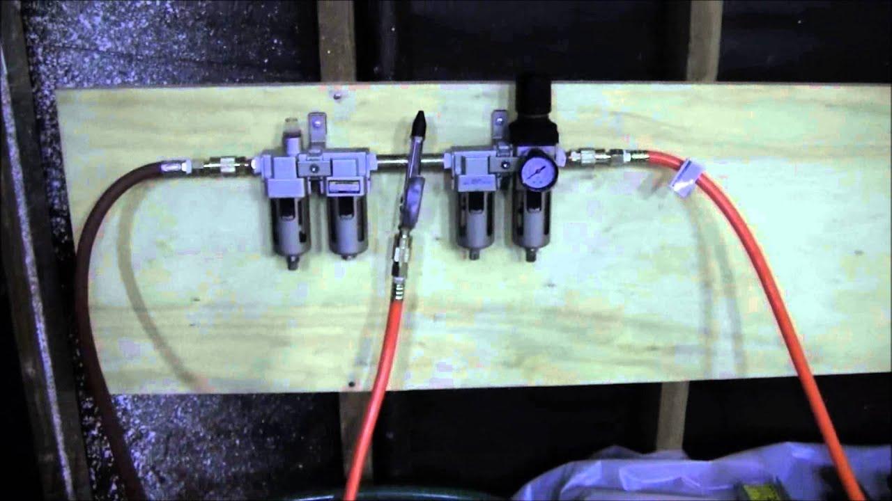 Husky 60 gallon air compressor set up  YouTube