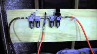 husky 60 gallon air compressor set up