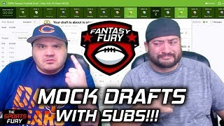 Fantasy Football Mock Drafts with Subscribers