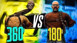 INHUMAN CS:GO PRO REACTION SKILLS! (360° vs 180° SHOTS)