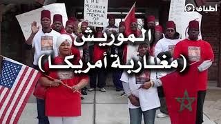 مغـــاربة أمريكا الموريش يحملون أعلام مغربية في آحتجاجات أمريكا ،: قصتهم مثيــرة .