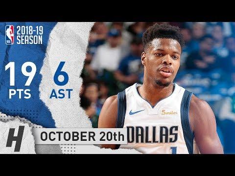 Dennis Smith Jr. Full Highlights Mavs vs Timberwolves 2018.10.20 - 19 Pts, 6 Ast, CLUTCH