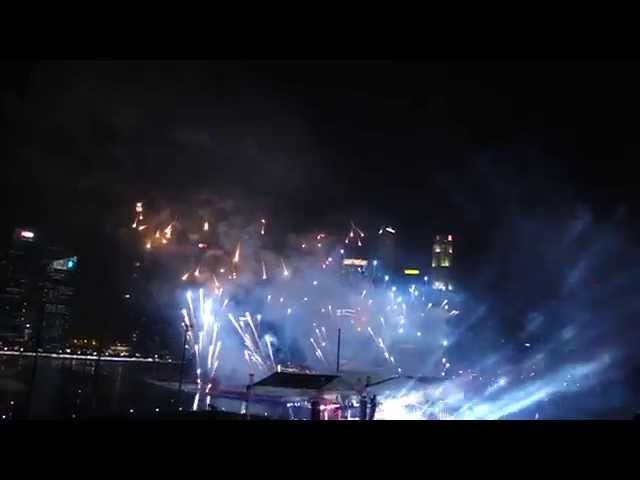 2015! New Year's fireworks from Singapore shot with Sony QX100