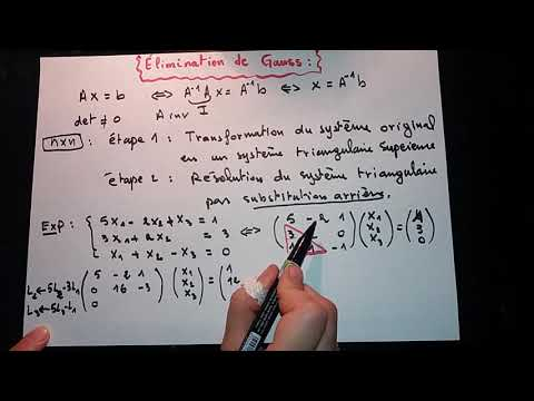 Méthode D'élimination De Gauss (explication + Exemple 1 Et 2 +exercice) تكملة التمرين في اول تعليق