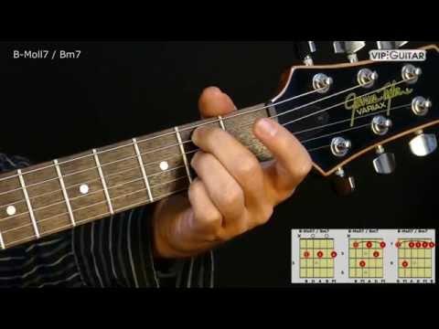 gitarrenakkorde: b-moll7 / bm7 chord