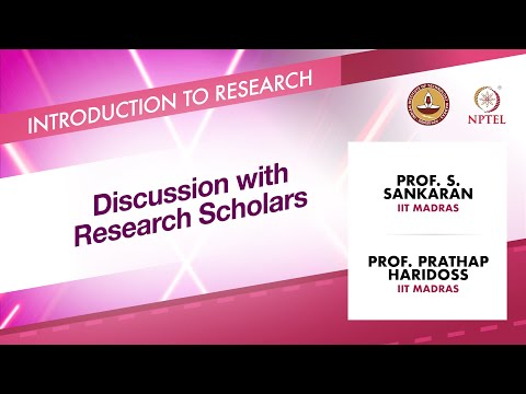 Discussion with Research Scholars