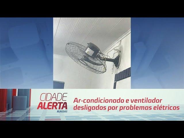 Calor em sala de aula: ar-condicionado e ventilador desligados por problemas elétricos