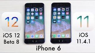 iPHONE 6: iOS 12 BETA 8 Vs iOS 11.4.1! (Comparison) (Review)