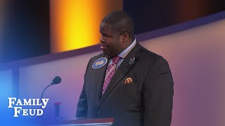 If that ain't a DEAD BODY, it will be when I'm done! | Family Feud