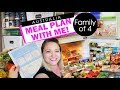 MEAL PLAN WITH ME! - Grocery Budget List Family Of 4 Australia Meal Planning With This Mum At Home