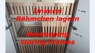 Beekeeping storing frames - Imkerei Rähmchen lagern - DIY - Holzweger