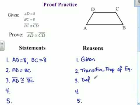 Printables Two Column Proof Worksheet two column proofs worksheets plustheapp proof practice 1 youtube