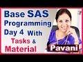 SAS Programming Tutorial For Beginners | Base SAS Programming Day 4 | By Pavani
