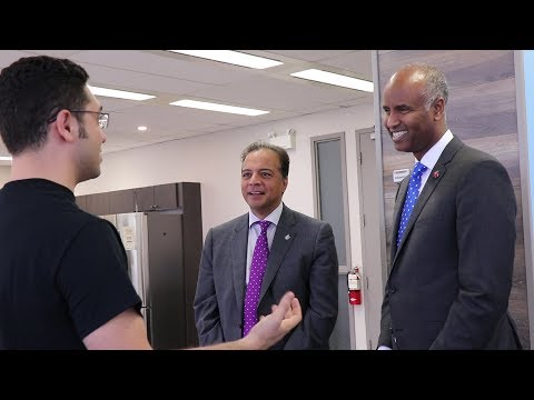 Canada's Minister of Immigration, Ahmed Hussen, visits ApplyBoard