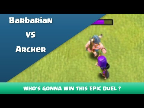 Epic Duel ! Barbarian VS Archer | Clash Of Clans