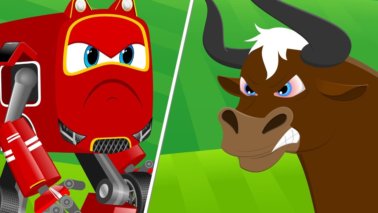 Supercar Baby Rikki vs Angry Magic Bull | Kids Car Cartoon Rhymes