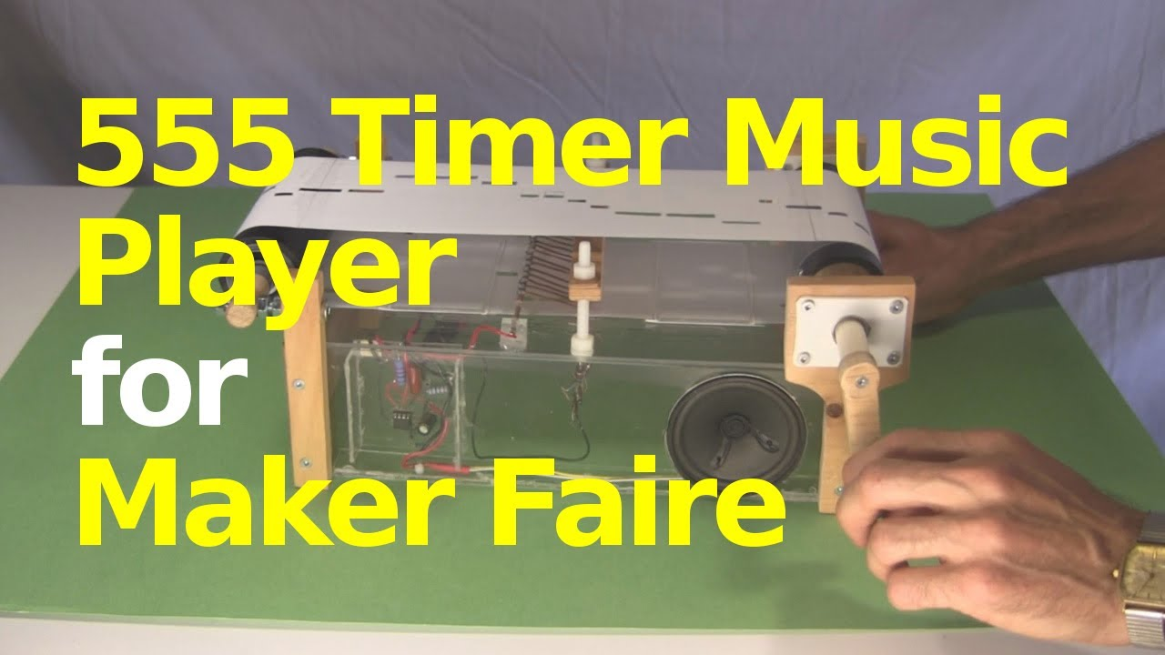 555 Timer Chip Music Player for Maker Faire - YouTube