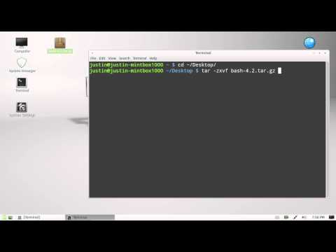 how to extract a tar.gz file in linux mint 13