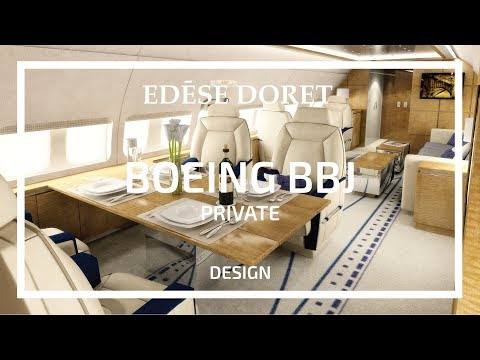 Private Boeing BBJ designed by Edése Doret