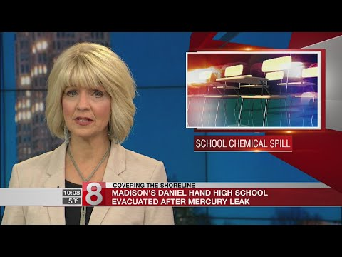 Madison's Daniel Hand High School evacuated after mercury leak
