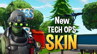 New skin TECH OPS * FREE FREE * SHOWCASE + GAMEPLAY FORTNITE BATTLE ROYALE