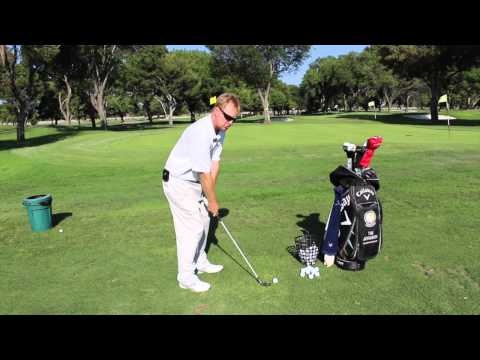 Golf Swing - hitting Solid Iron Shots and Compressing the Golf ball 2!