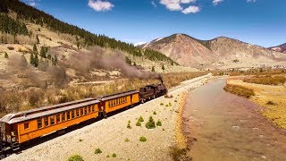 D&SNGRR Engine 480 Leads the Inaugural Run to Silverton, CO! 4K