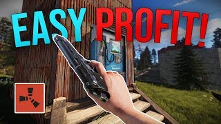 MAKING EASY PROFIT FROM MY NEIGHBORS SHOP! - Rust Solo