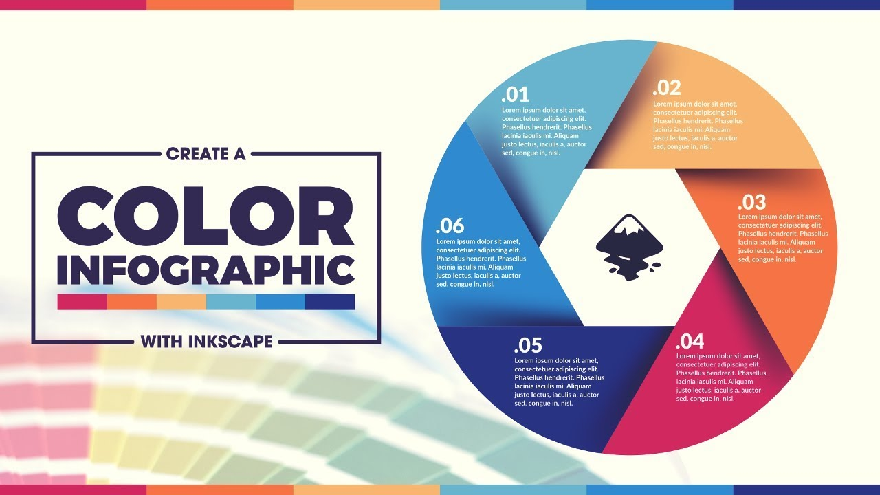 inkscape tutorial colorful infographic template youtube