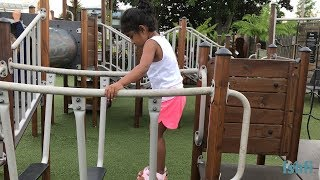 Happy Toddler Ishfi's Park visit at Sunny Day Play centre Playground Fun