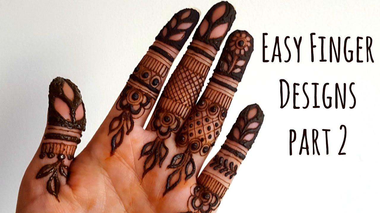 Mehndi Fingers Rating : Easy diy mehndi henna designs on fingers part youtube