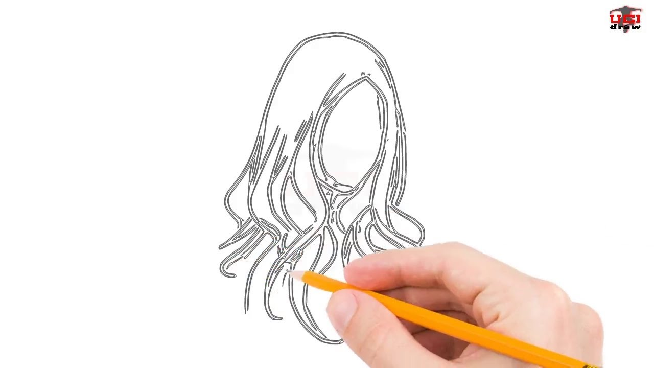 draw hair step easy